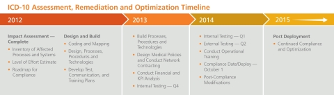 ICD-10 Assessment, Remediation & Optimization Timeline
